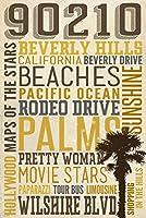 90210、カリフォルニア–Typography 16 x 24 Giclee Print LANT-55695-16x24