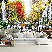 カスタム3D写真の壁紙山小さな滝川の景色壁画寝室のテレビ背景壁の壁画Papel De Parede,250cm×175cm
