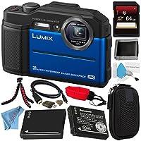 Panasonic Lumix DMC - dc-ts7dc-ts7aデジタルカメラ(ブルー) + 16GB SDHCカード+ Small case +デラックスクリーニングキット+マイクロHDMIケーブル+メモリカード財布+カードリーダー+カメラフローティングストラップバンドル