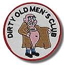 Dirty old mens club - 刺繍パッチ 8x8 cm