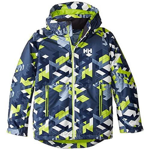 Helly Hansen Junior-Kid's Domino Print Snow Jacket [並行輸入品]