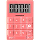 dretec(ドリテック) デジタルタイマー キュービック 音と光で時間をお知らせ 無音機能付き ピンク