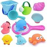 お風呂 おもちゃ Bacolos おふろ 水遊びおもちゃ シャワー プール おもちゃ 11点セット 噴水 音出す動物 漁…