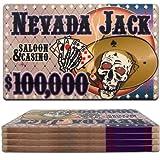 商標ポーカーネバダジャック$ 100000セラミックポーカーチップPlaque (マルチ)