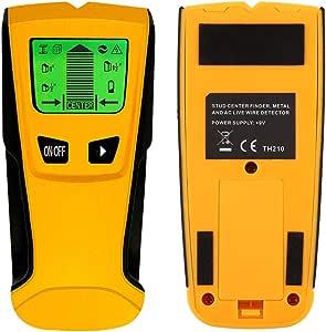 下地センサー 下地探し デジタル壁検出器 壁うらセンサー LCD 金属/木材/スタッド/AC送電線の位置探知 ワイヤースキャナ 自動校正機能