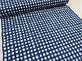 ローンリップル New水彩チエック ブルー青 |かわいい|生地|布地|安い|服地|サマー|涼しい|