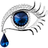 Comelyjewel Premium Quality Personality Tear of Angel Rhinestone Brooch Pin Covered Scarves Shawl Clip for Women Ladies