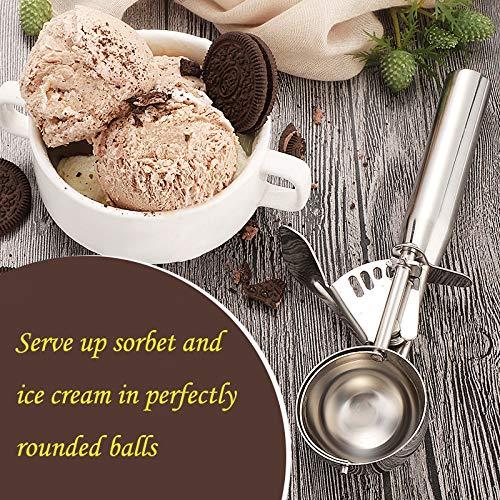 Shenzhen TND Elc Co.,Ltd MAGICYOYO アイスクリームスクープ、MAGICYOYOステンレススチールトリガークッキースクープスプーン New Version Handle -Medium