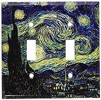 Van Gogh : Starry Nightスイッチプレート 5-D-plate 1