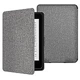 ATiC Amazon NEW-Kindle Paperwhite専用スーパー軽量薄型ケース (オートスリープ機能付き 2012/ 2013/ 2015/2016/マンガモデル適応) 布のグレー
