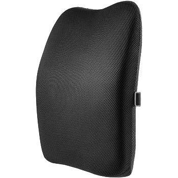 IKSTAR クッション 低反発【メーカー直営・1年保証付】 ランバーサポート オフィス 椅子 車用 腰枕 RoHS安全基準クリア 取付バンド調節可能 洗える 介護用クッション
