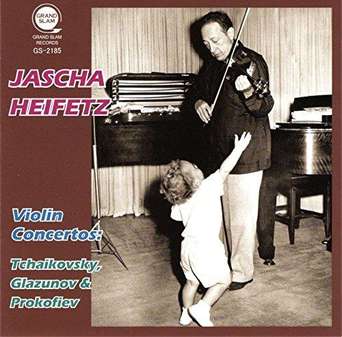 ロシア協奏曲集 ~ チャイコフスキー | グラズノフ | プロコフィエフ (Violin Concertos : Tchaikovsky, Glazunov & Prokofiev / Jascha Heifetz) [CD]