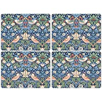 Strawberry Thief Blue by Morris & Co Placemats, Set of 4, 15.7