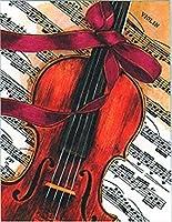 バイオリンwith a red bowカード