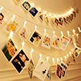 20 LEDs Photo Clip String Lights,Tobeape 3m Peg Lights for Photo Peg,Battery Powered Fairy Lights for Decoration Hanging Phot