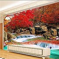 Xbwy 中国風の3D壁画壁画壁紙自然の風景Xiangshan赤い葉クレーン写真の壁紙壁画3D部屋の風景-150X120Cm