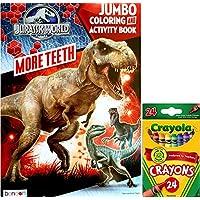 Jurassic World More歯ジャンボカラーリングandアクティビティブックwith Crayolaクレヨン24