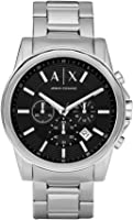 Armani Exchange AX2084 Silver-Tone Stainless Steel Watch