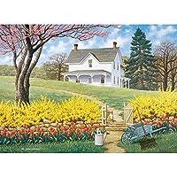 Bits andピース–1500ピースジグソーパズル–Spring Ahead、Scenicばね–byアーティストJohn Sloane–1500pc Jigsaw