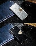 Droxie(TM)カードスロットをAppleのiPhone 7スタンドホルダーキャパについてiPhone 7グリッターダイヤモンドフリップウォレットカバーに高級レザーケース