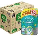 【ケース販売】香りとデオドラントのソフラン 柔軟剤 プレミアム消臭 フルーティグリーンアロマの香り 詰替 1200ml×6個
