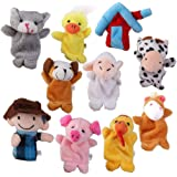TOYANDONA 10pcs Animal Finger Puppets Storytelling Finger Doll Parent Child Interactive Educational Hand Animal Toys for Home