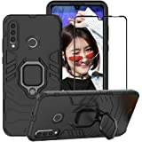 BestAlice for Huawei P30 Lite Case, Hybrid Heavy Duty Protection Shockproof Defender Kickstand Armor Case Cover Tempered Glas