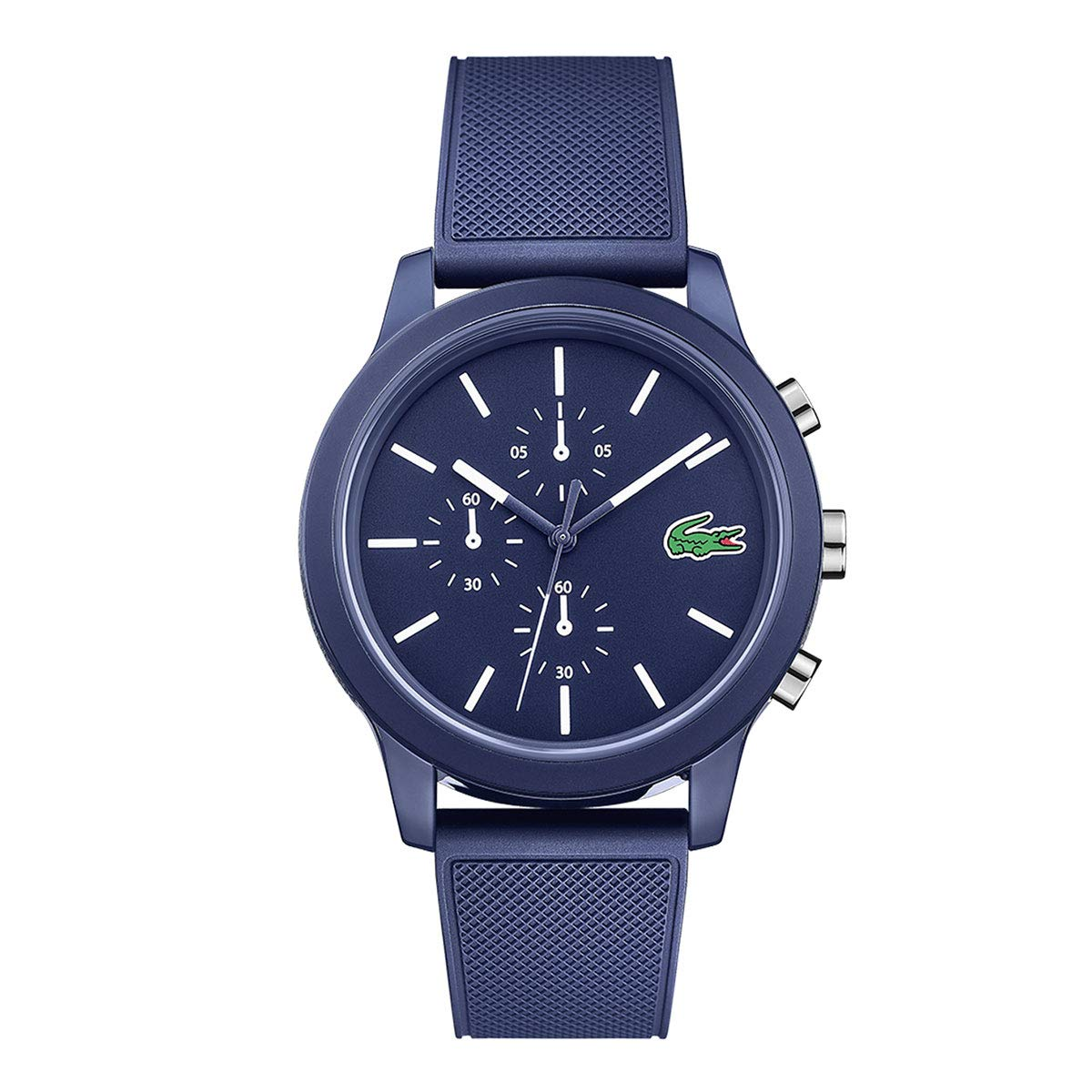 Lacoste Men's 40mm Blue Silicone Band Steel Case Quartz Analog Watch 2010970