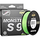 SeaKnight Monster S9 9 Strands Braided Carp Fishing Line 300M/500M Long Casting Multifilament Saltwater Sea Fishing Lines 20-
