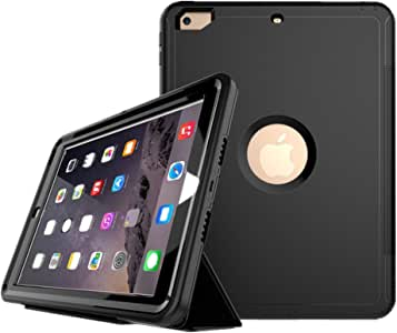 Checoo iPad air2(2014) ケース 全面保護 アイパッドカバー 耐衝撃 防滴 防塵 PC+TPU二重構造