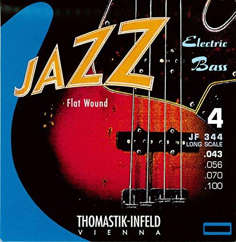フラットワウンド JAZZ エレキベース弦 Thomastik JF344