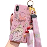 for iPhone 11 Case, for iPhone 11 Cover, Japan Anime Sailor Moon Case with Lanyard Strap Silicone Soft Phone Case Back Cover