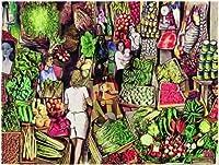 エディションRicordiジグソーパズル1500ピース–Study for the市場、R。Guttuso–( cod。34268)