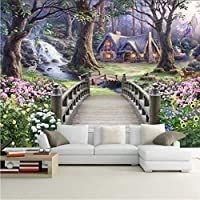 Wxmca 現代の壁紙ヨーロッパファンタジー世界の森の庭カスタム写真壁紙壁画キッズルームの背景壁画壁紙-120X100Cm