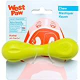 West Paw Zogoflex Hurley Dog Bone Chew Toy – Floatable Pet Toys for Aggressive Chewers, Catch, Fetch – Bright-Colored Bones f