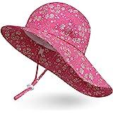 Ami&Li tots ベビー 帽子 キッズ 子供 日よけ 帽子 女の子 赤ちゃん uvカット 帽コットン広いつば太陽の帽子調節可能な UPF 50