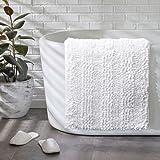 Tvscess Bathroom Rug,Bath mat for Bathroom, Luxury Chenille Shaggy Bath Mat,Non Slip Bath Rugs for Indoor, Bath Room, Shower,