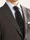 (ザ・スーツカンパニー) FILO D'ORO/織柄ニットタイ ブラック×グレー×ホワイト