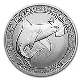 2015年 オーストラリア ・平撞木鮫・ヒラシュモクザメ・グレート ハンマーヘッド シャーク ・1/2オンス 銀貨 15.5g シルバー コイン 純銀 高級アクリルカプセル・クリアーケース付き