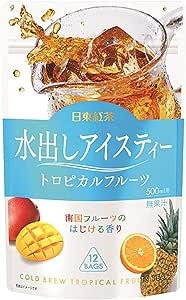 日東紅茶 水出しアイスティートロピカルフルーツTB 12袋入 ×4個 ティーバッグ