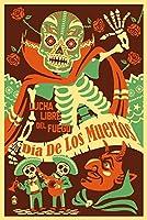 Dia De Los Muertos–Lucha Libre Del Fuegoポスター 16 x 24 Giclee Print LANT-71255-16x24
