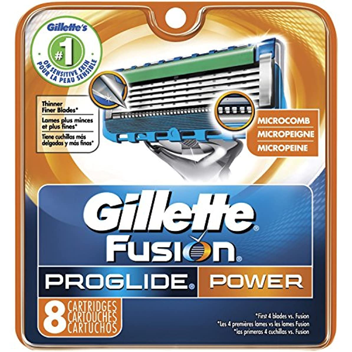 ノミネート愛するGillette Fusion PROGLIDE POWER Razor Blades Refills ドイツ8パック製 [並行輸入品]