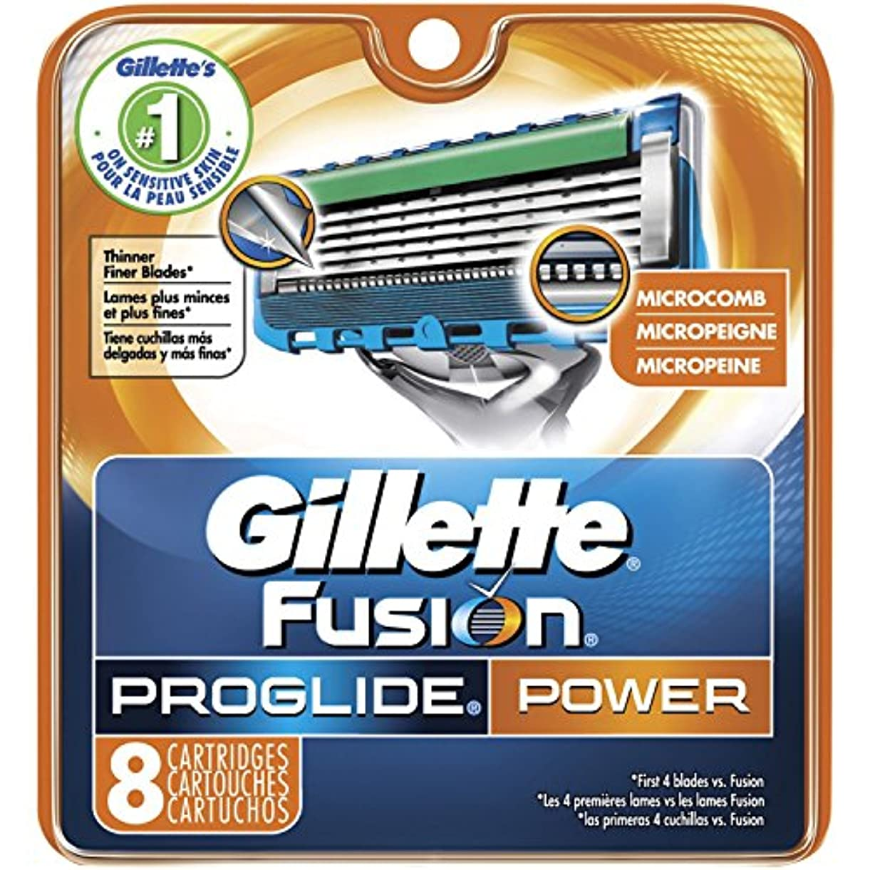 かるレッスン誓約Gillette Fusion PROGLIDE POWER Razor Blades Refills ドイツ8パック製 [並行輸入品]
