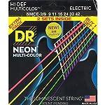 DR エレキギター弦 2セットパック NEON ニッケルメッキ マルチカラー コーテッド .009-.042 NMCE-2/9