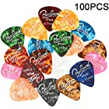 BestSounds Assorted Pearl Celluloid Guitar Picks-For Your Electric Acoustic or Bass Guitar (Medium Sized (0.71mm) 100 Pack)