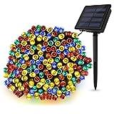 ソーラー ストリングライト LED ソーラー イルミネーション,TECBOX [ 200 LED球 全長22m 自動点灯 消灯 エコ 防水 ] ソーラー 電飾 - お店周り パーティー 結婚式 ガーデ