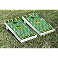 SUNY Brockport Golden Eagles regulation Cornhole Game Setフットボールフィールドバージョン