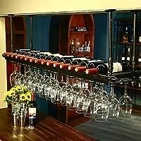 ワインラック/ハンギングレッドワインカップホルダー/吊り下げガラスホルダー/クリエイティブホームバー/ワインラックハンギングガラスホルダー (色 : 2, サイズ さいず : 120*30cm)