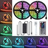 LED Strip Lights, JR INTL 10M 300 LED RGB LED Light Strip 5050 LED Tape Lights, Color Changing LED Strip Lights with Remote for Home Lighting Kitchen Bed Flexible Strip Lights for Bar Home Decoration
