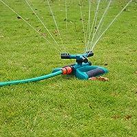 ieasysexy Big 3つフォークタンデムスプリンクラー360度回転庭芝生スプリンクラーブリッジメンテナンススプリンクラ